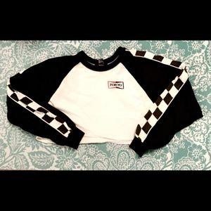 Racer crop hoodie